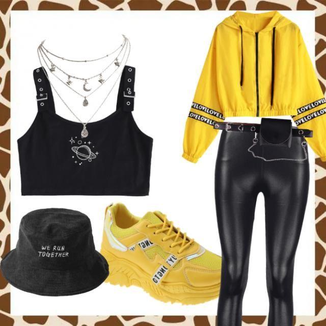vlack and yellow