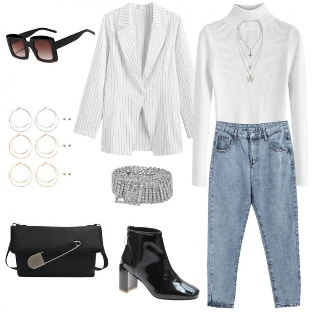 Casual modern twist on a chic business outfit