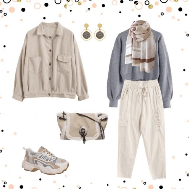 Cozy neutral outfit, slay effortlessly.