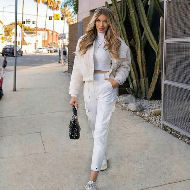 make an impression with this all white outfit