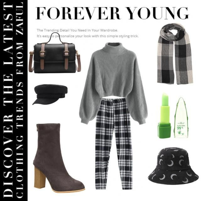 A casual day outfit for the autumn months that&;ll keep anyone warm this season, also some aloe vera to protect your li…