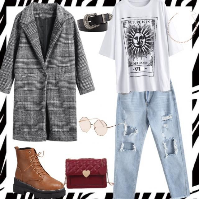With this fall outfit U will look effortless but fashion