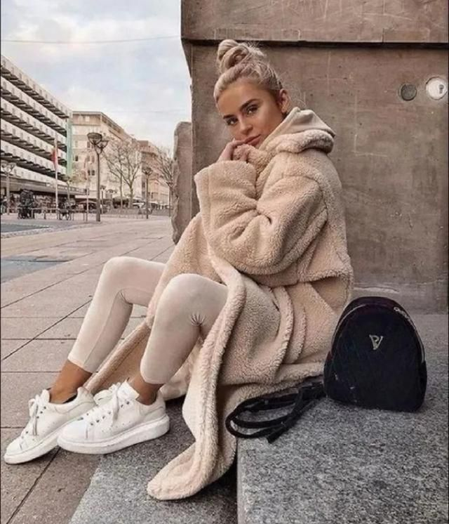 Cozy mean this style I think. Its a super practical, common and warm style. Just put on your sweat suit, a warm…