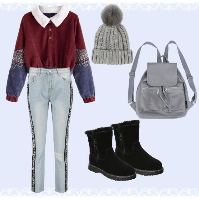 To stay warm but yet fashionable in the cold air with a dull color palette.