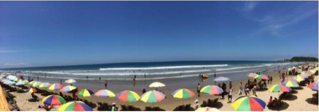 Un día hermoso en la playa