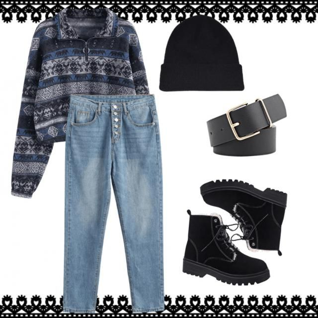 More of a casual person? Well this outfit is good for you but can still be cozy in the mix.