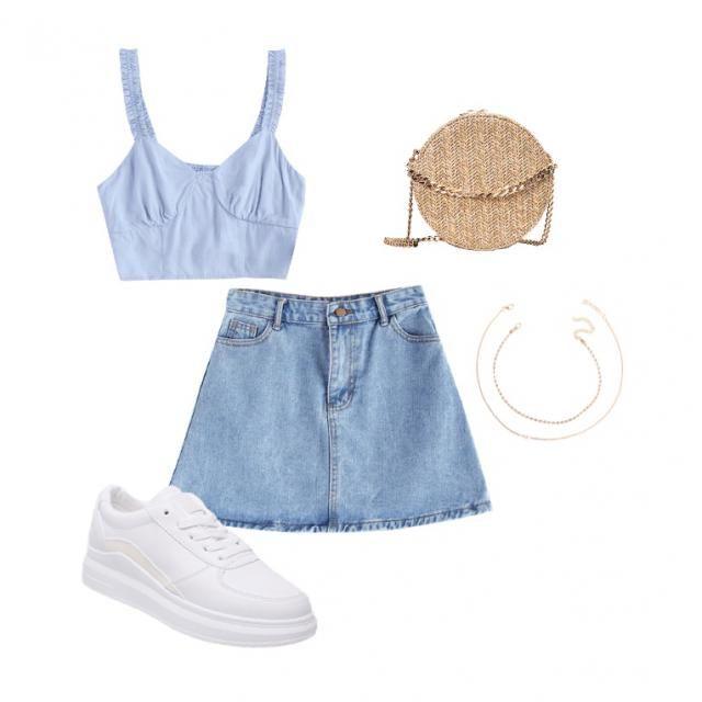 Cute baby blue