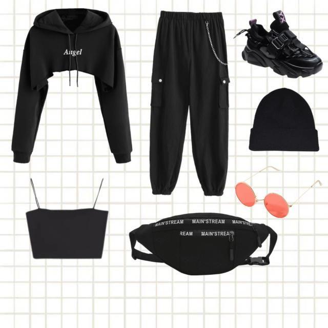 Outfit nero gotico