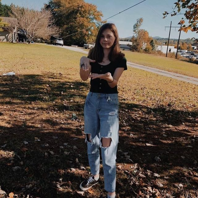 the first outfit is a cropped dark green button cropped top with Zaful's distressed boyfriend jeans! the second outfit …
