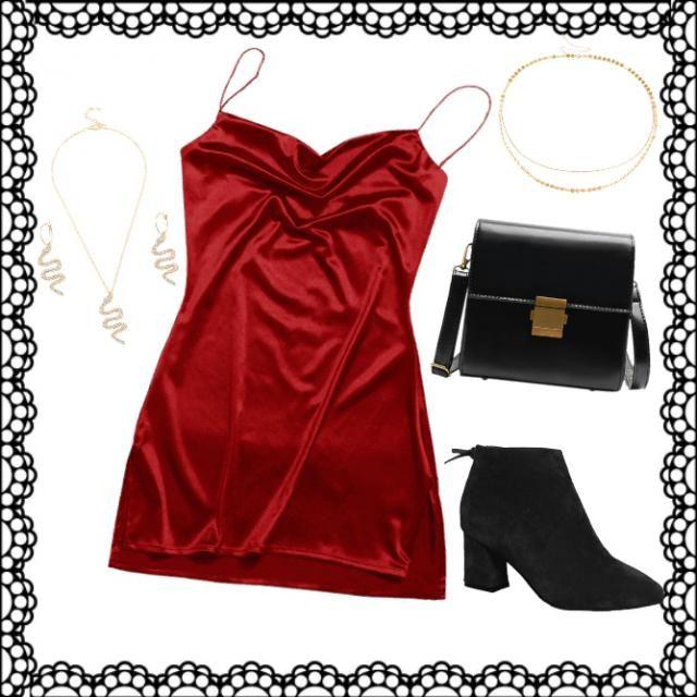 outfit ideale per una serata speciale,comodo e adatto a tutte.