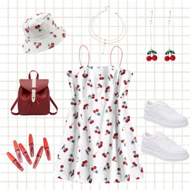 Cherry inspired casual outfit
