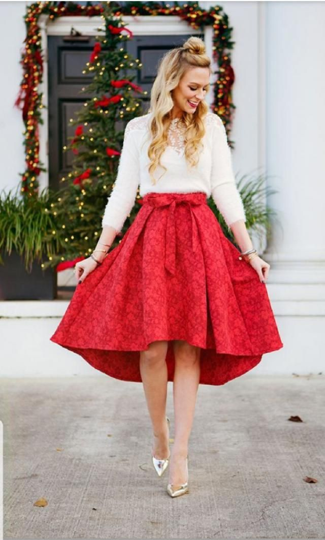 Christmass outfitt would be always a pretty blouse with a skirt rightt?? Get that beutifull outfit and Rock the chirstm…