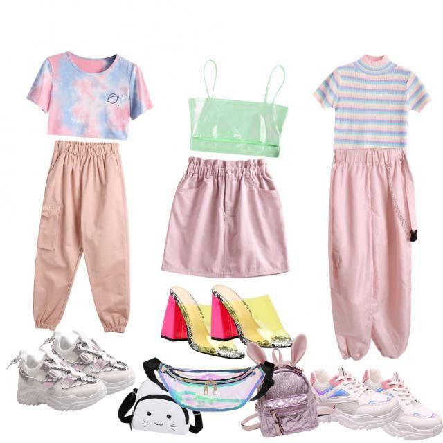 three girly outfits