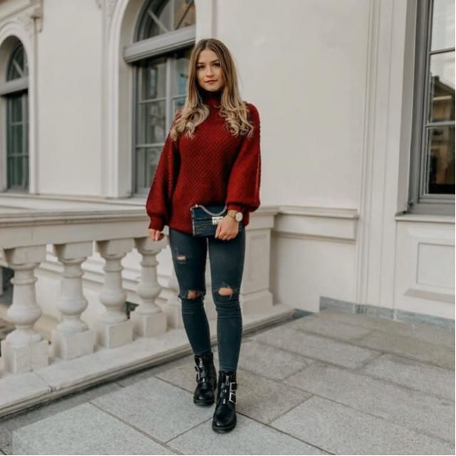 Red and black outfit are needed, it's stylish and comfy