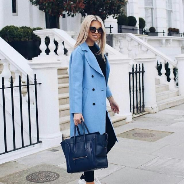 this is a stylish blue coat