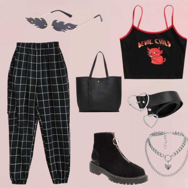 A bold but black look