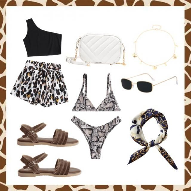 cute summer look leopard!!