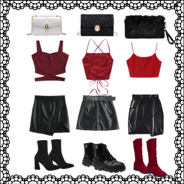 /WMakeUp              red sexy party outfits!!!! for your bffs ❤️