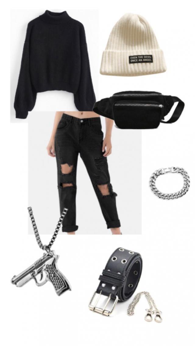 egirl style ~ black & white