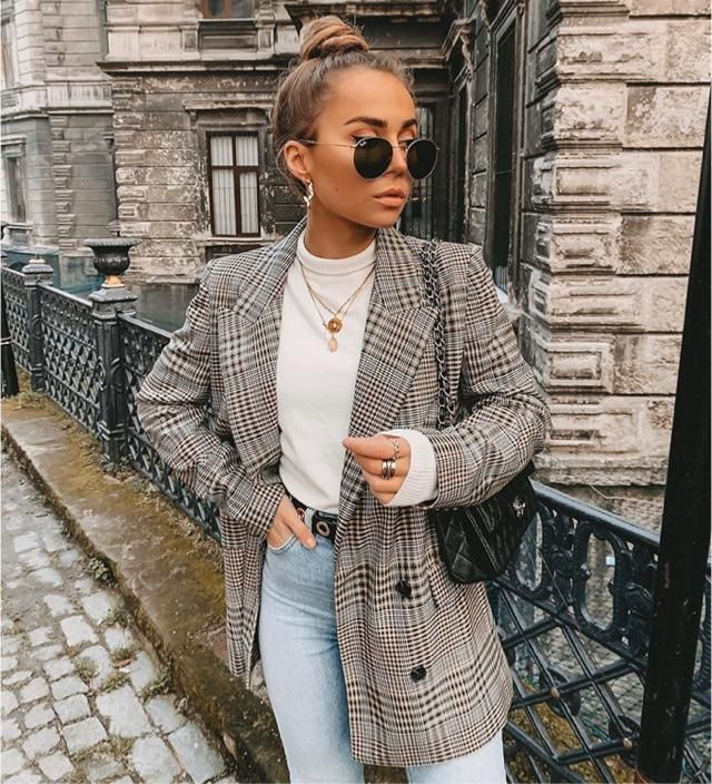 You can be stylish even with a blazer, this plaid blazer will help