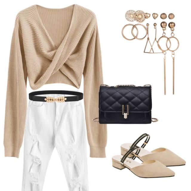 Beige with white and a little bit touch of black