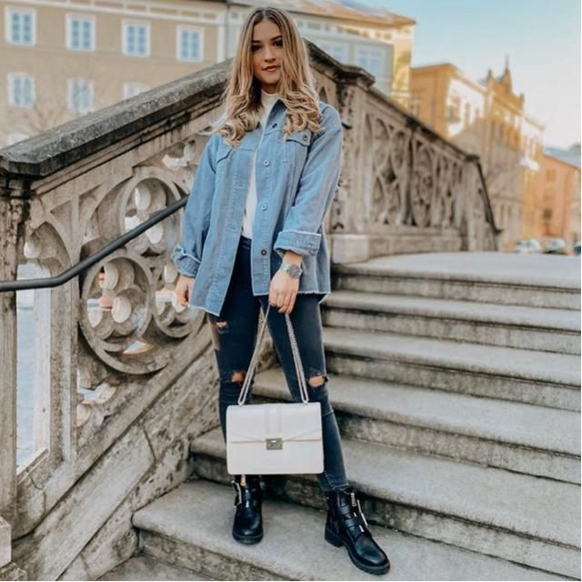 Being stylish is simple all you need is a cute denim jacket