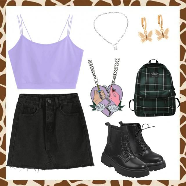 Basic grunge school outfit