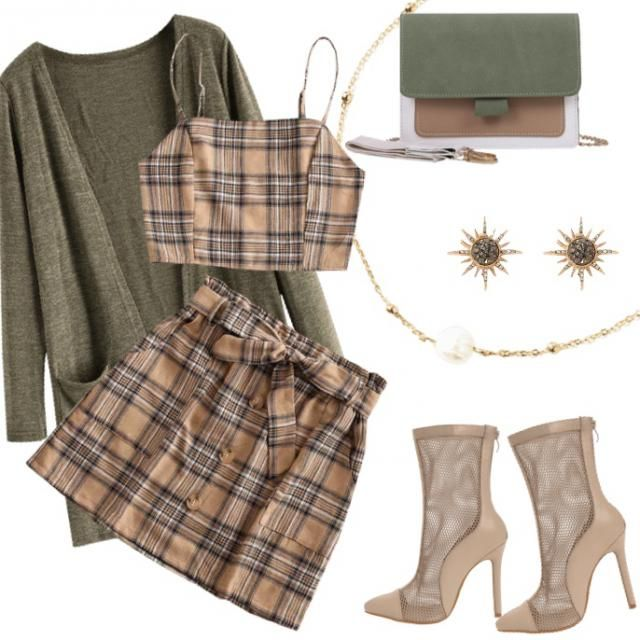 Green / Tan outfit