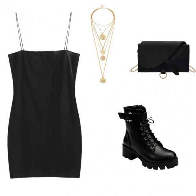 An all black outfit. It works for all occasions and it's always cute. I personally feel stronger as a woman when I am w…