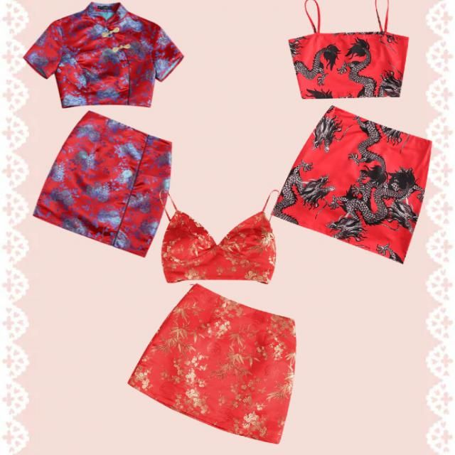 Chinese 2 piece outfits set