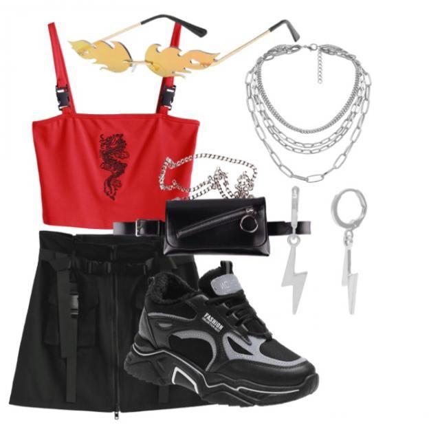 Red E-girl