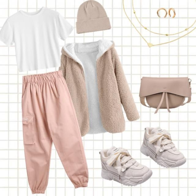 Pink and beige !