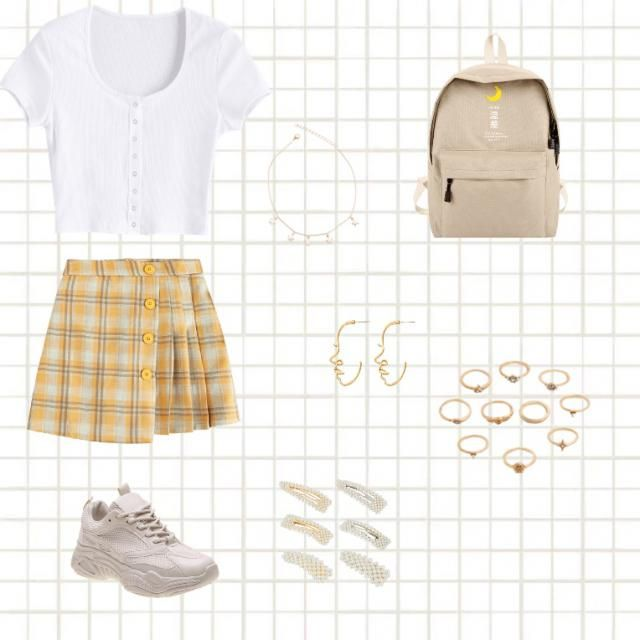 Cute sunshine outfit for a worm spring day 💕