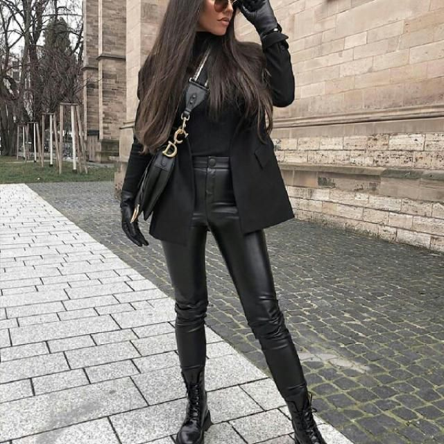 This is a stunning next-level way to wear your favorite leather pants, I love this look so much