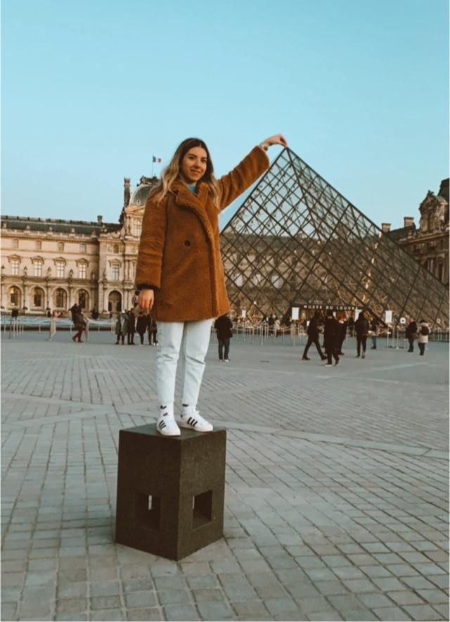 At the top of Louvre
