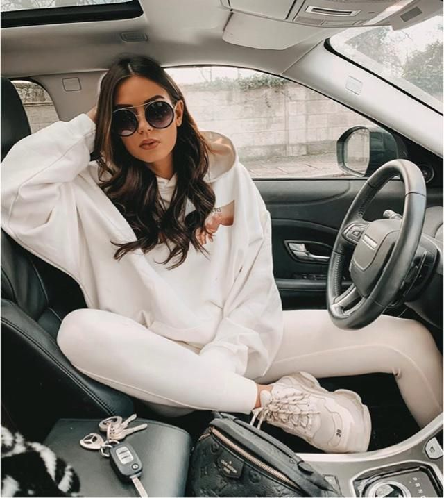 It's not a problem to wear all white, it looks stylish actually