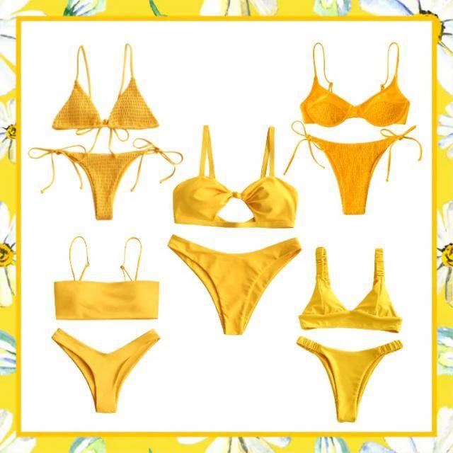 Yellow bikinis