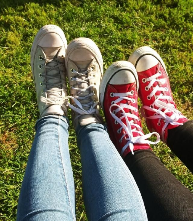 the most important part me and my best friend in our favorite shoes