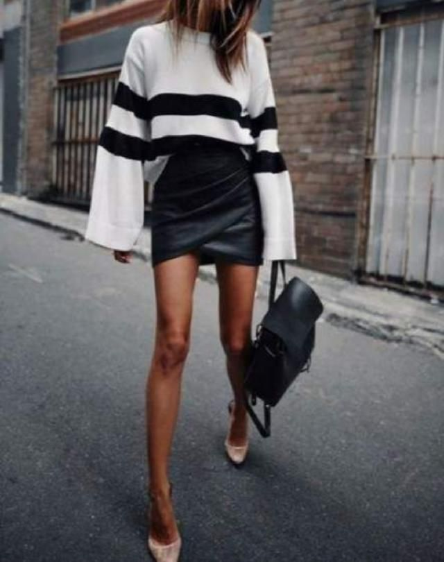 -ZStyle      If you want to look effortlessly stylish and sassy then take out your leather skirts, it's time to wear the…
