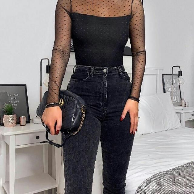 I adore this sheer top it is so pretty