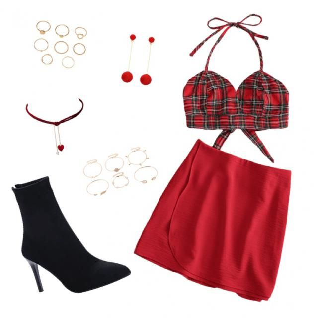 red party outfit