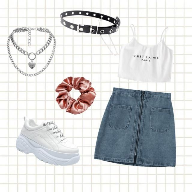 aesthetic outfit for summer or casual day.