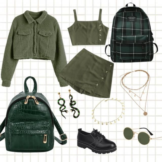 green inspired outfit