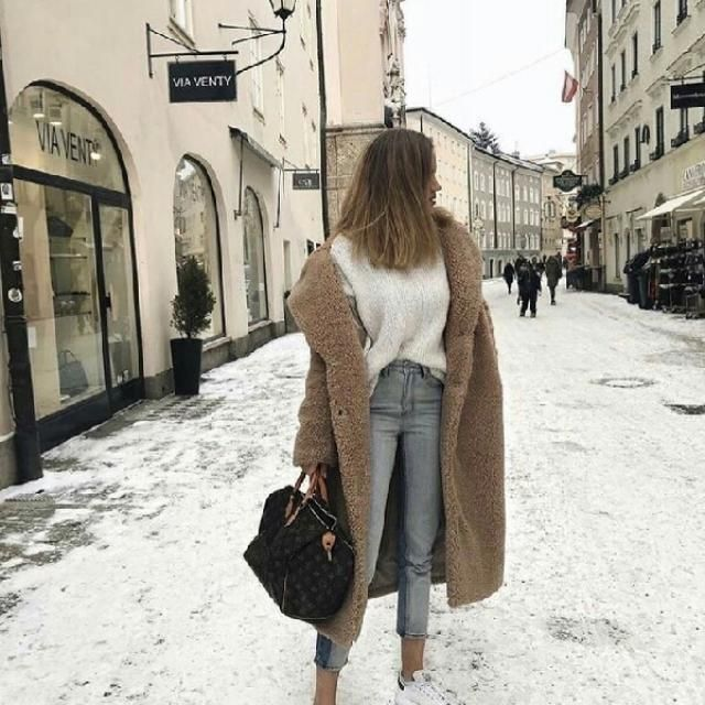 you can't go wrong with a khaki faux fur coat