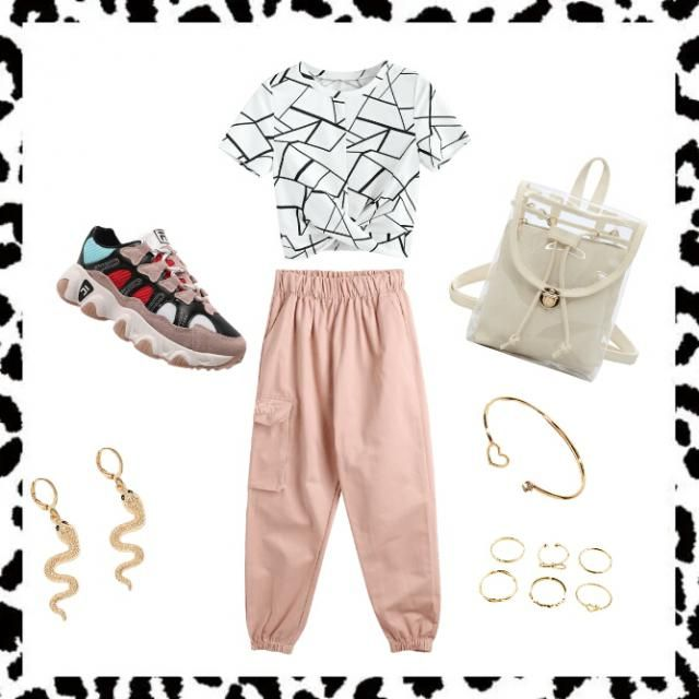 -Zstar A nice outfit that matches and includes lots of accessories.The pink shows a bold person and the t-shirt is a pei…