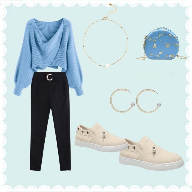 Cinderella inspired outfit 💍👑 Pearls  Light blue Beige