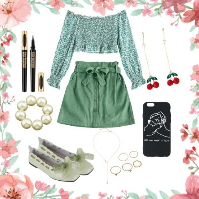 a cute outfit for summer outing in the park