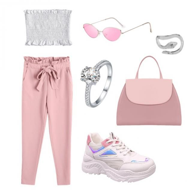 pinky cute outfit for anything