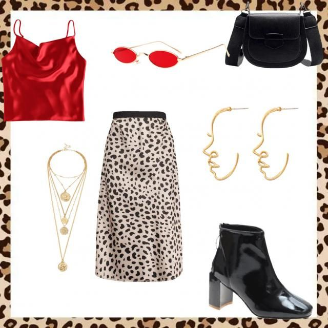 Really fun and cute animal print with red accents ❤️❤️❣️🎈