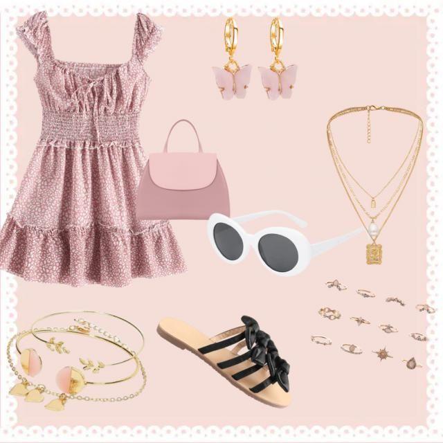 Cute mini dress style 🎀💖🌸🤍🤍
